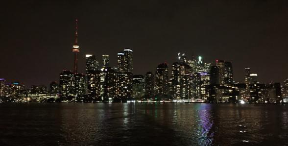 Vue de Toronto de nuit