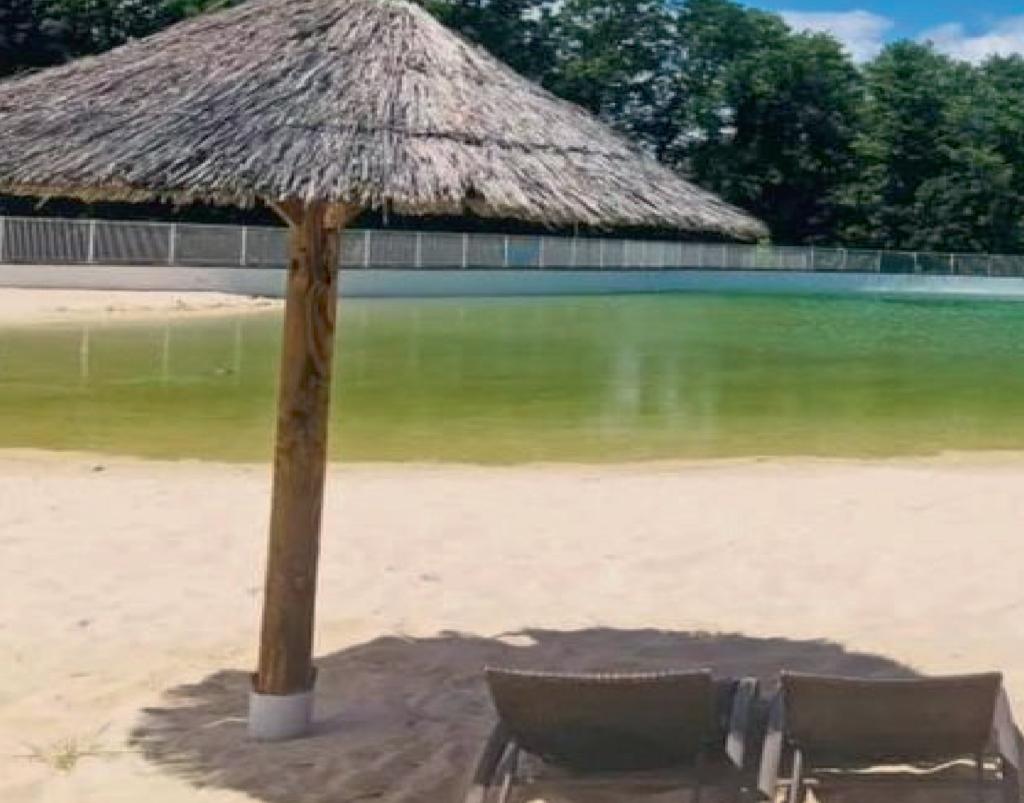 piscine naturelle dans les Dombes