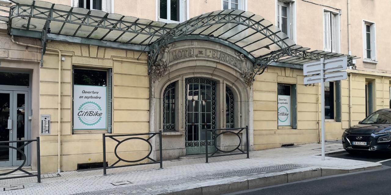 Citibike s'installe dans l'ancien hôtel de l'Europe